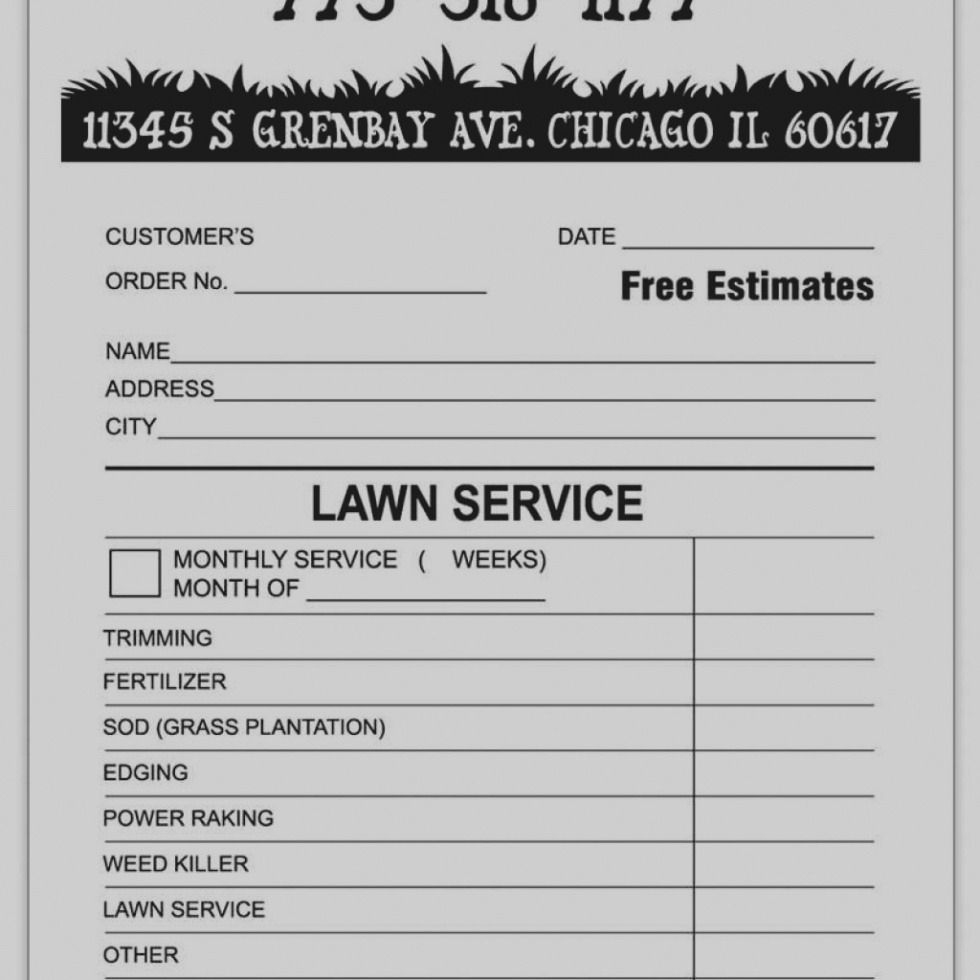 Trend Of Lawn Care Invoice Template Free Landscaping Service Excel Within Lawn Care Invoice Template