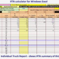 Trucking Driver Fleet Spreadsheet Ifta Fuel Tax Truck Report Full with Ifta Spreadsheet