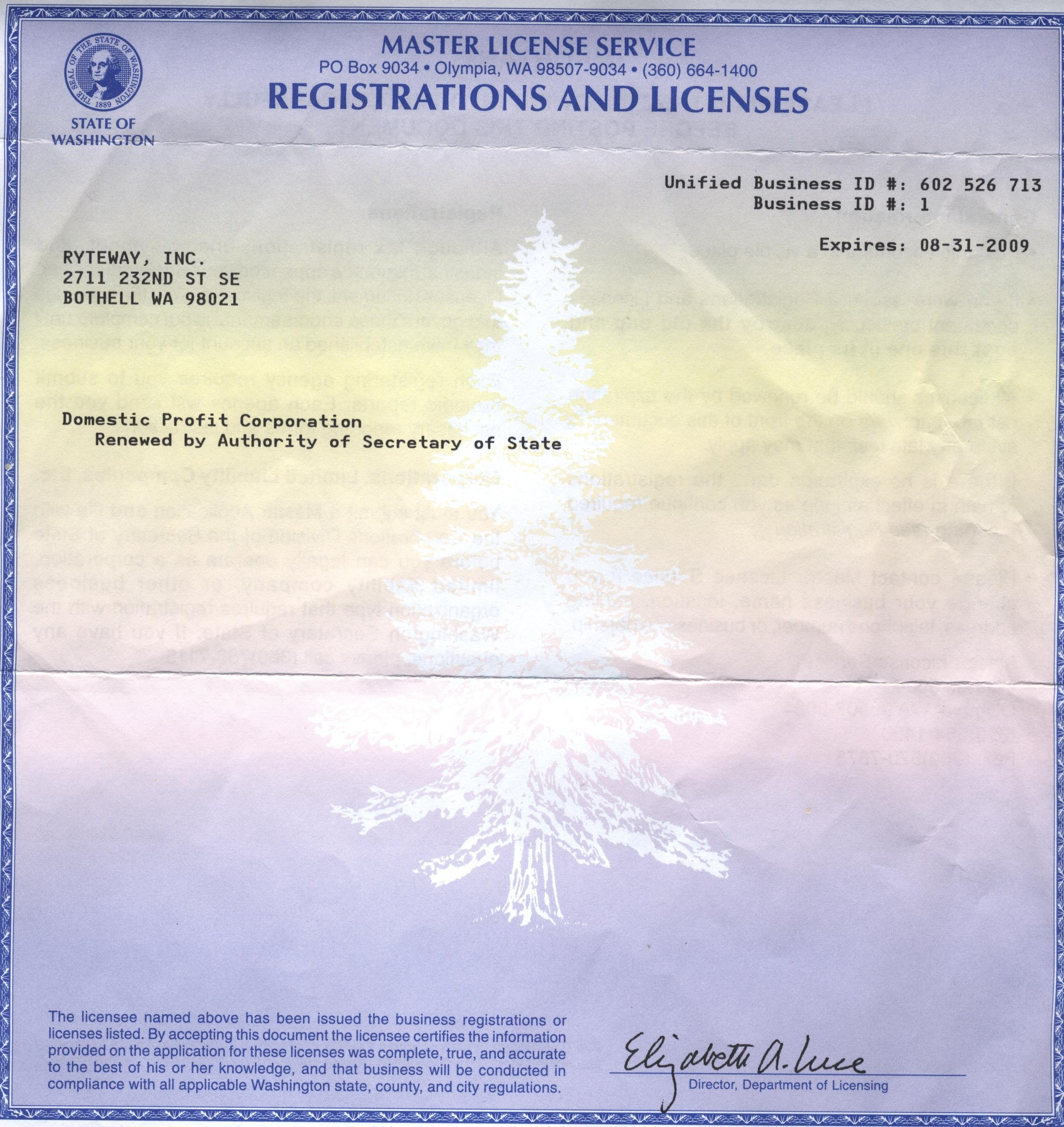 Untitled 1 With Olympia Business License Olympia Business License With Olympia Business License
