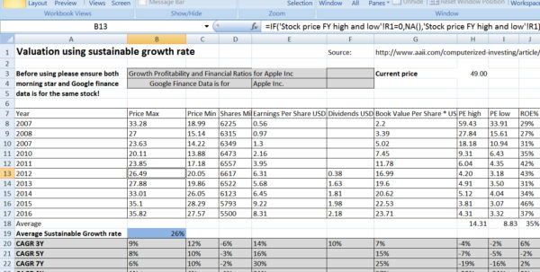 Us Stock Analysis Spreadsheet Sustainable Growth Rate Elegant With Data Analysis Spreadsheet