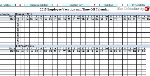 Vacation Tracking Spreadsheet | Sosfuer Spreadsheet Inside Time Off Tracking Spreadsheet