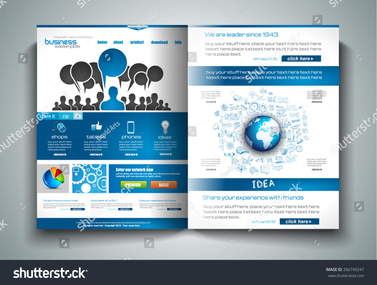 Vector Bifold Brochure Template Design Flyer Stock Vector (Royalty In Business Applications Template