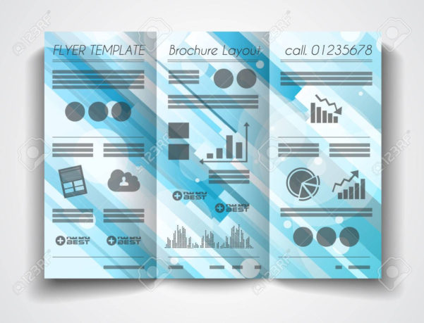 Vector Tri Fold Brochure Template Design Or Flyer Layout To Use To Business Applications Template