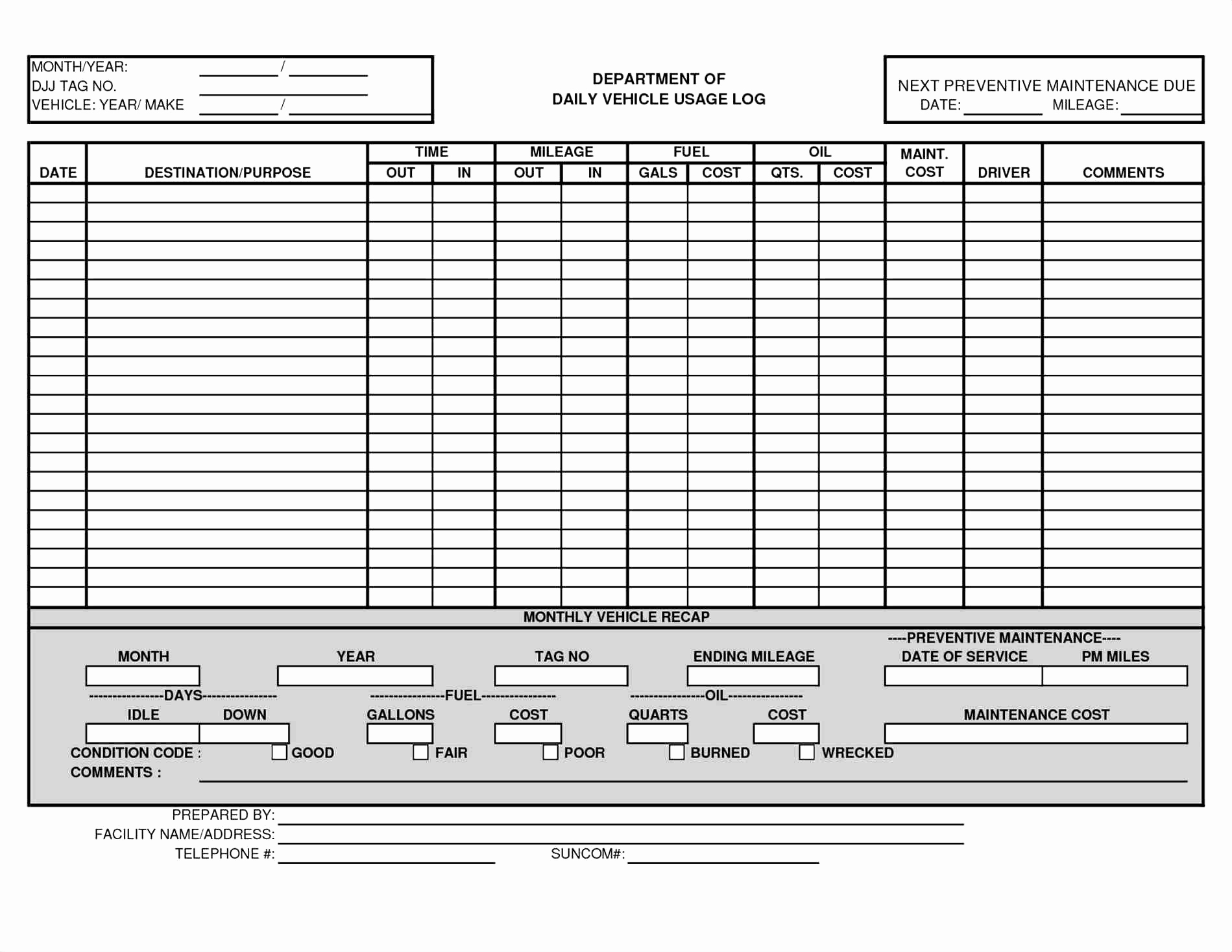 Vehicle Maintenance Spreadsheet Excel Unique Car Service Record Within Preventive Maintenance Spreadsheet