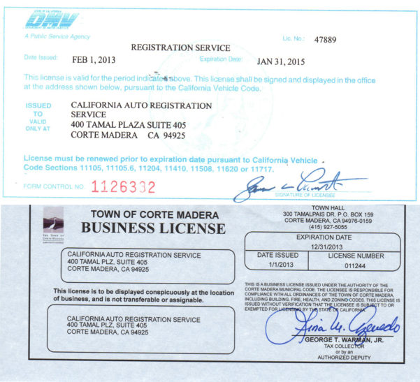 Vehicle Registration Service Open To The General Public, Dealerships With Business Registration License