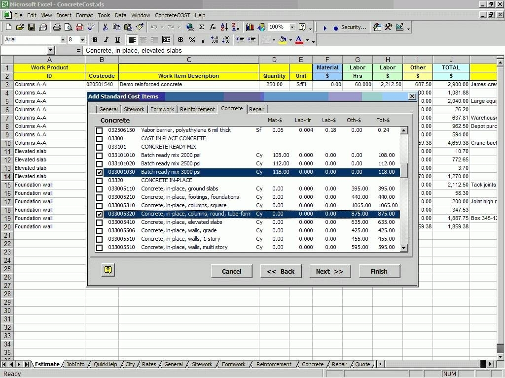 Wall Formwork Design Spreadsheet | Jamdat Sheet And Formwork Design Inside Formwork Design Spreadsheet