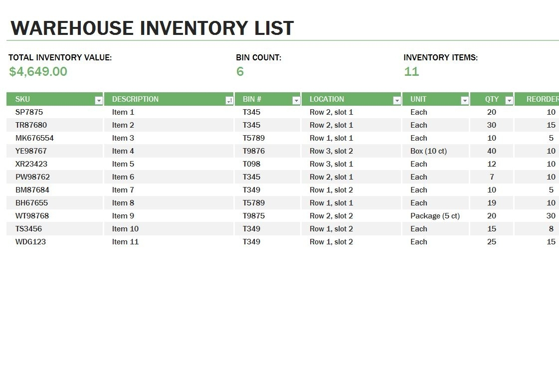 Warehouse Inventory | Warehouse Inventory Template As Well As Throughout Warehouse Inventory Management Spreadsheet