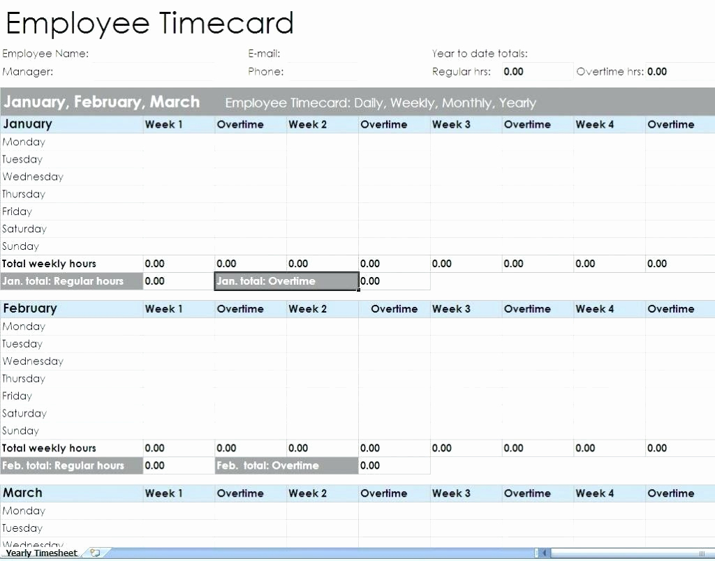 Weekly Timesheet Template Excel Inspirational Best S Weekly Employee In Employee Timesheet Template