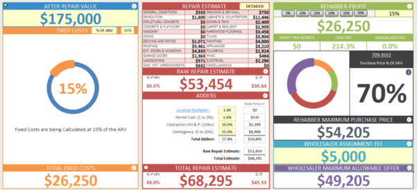 Wholesale Calculator   House Flipping Spreadsheet Inside Real Estate Flip Spreadsheet