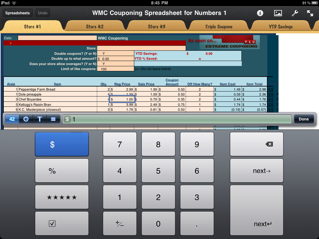 Wmc Couponing Spreadsheet Program | As Seen On Extreme Couponing For Coupon Spreadsheet App