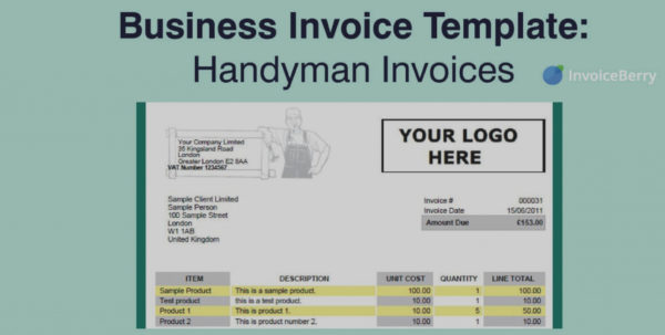 Wonderful Of Handyman Invoice Template Free Excel Pdf Word Doc To Handyman Invoice
