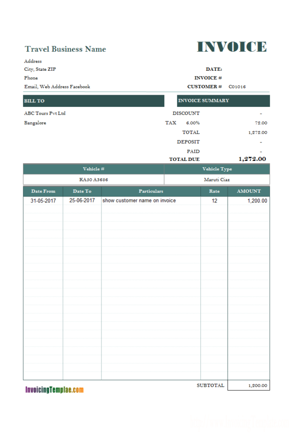 Word Rent Invoice Template Intended For Rent Invoice Template