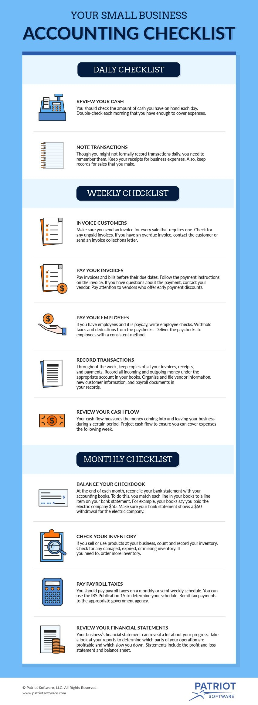 Your Go To Small Business Accounting Checklist With Month End Accounting Checklist Template