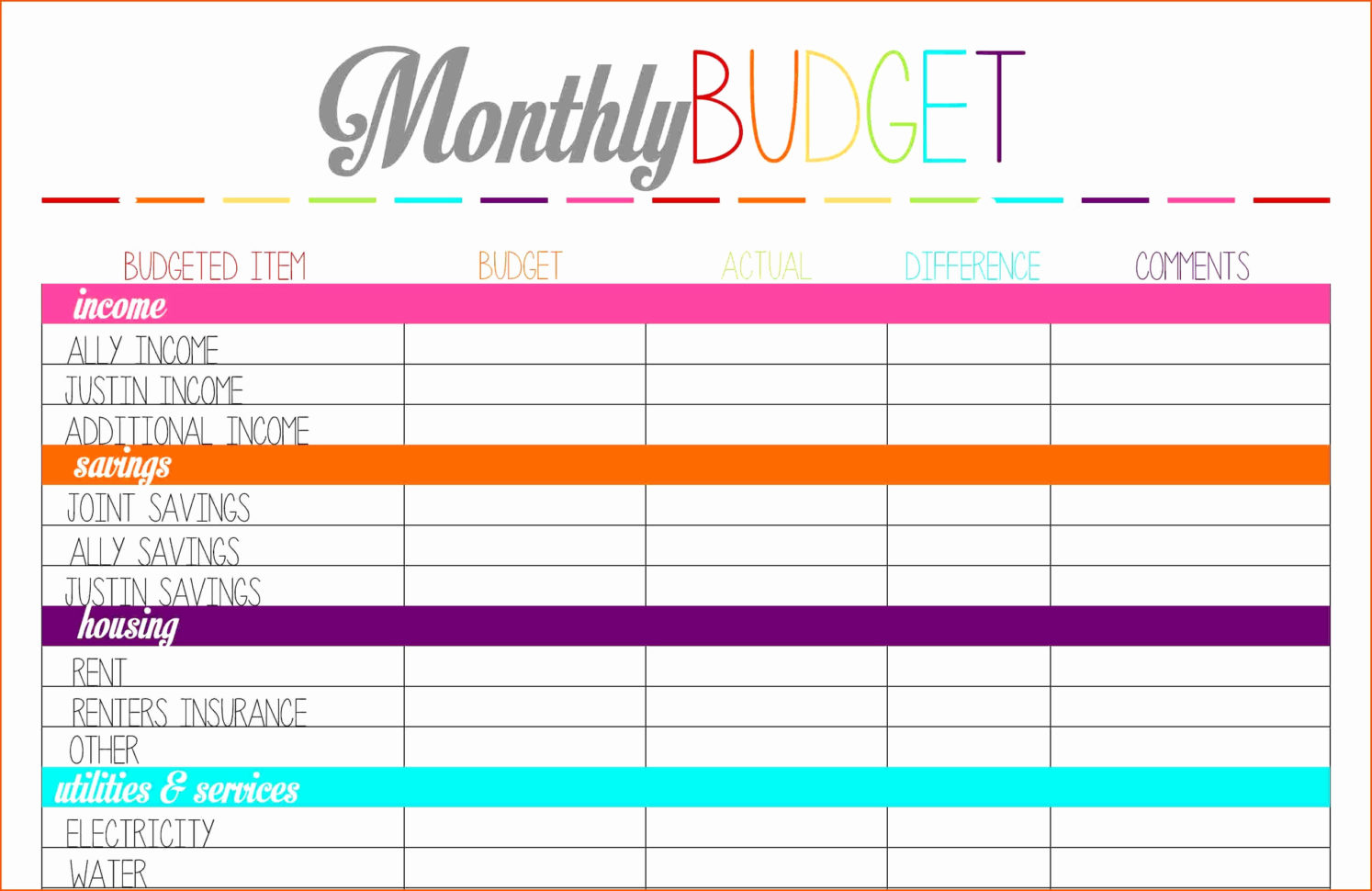 Zero Based Budget Spreadsheet Fresh Household Bud Spreadsheet Simple To How To Make A Household Budget Spreadsheet
