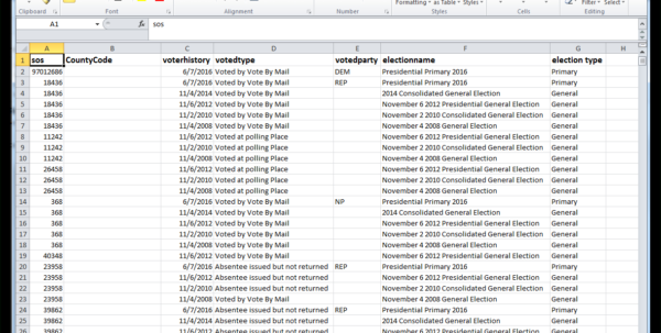 13 Column Spreadsheet In Trail Blazer Importing Voter History Data  Example Spreadsheet With
