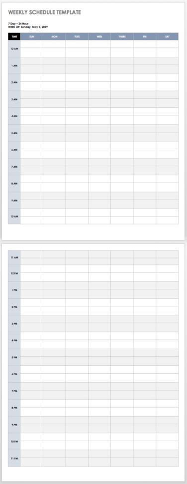 168 Hours Spreadsheet Within 28 Free Time Management Worksheets  Smartsheet