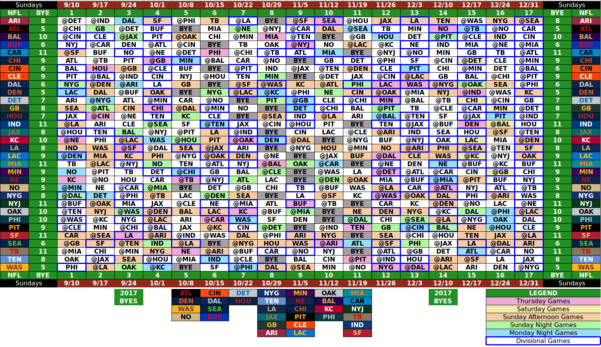 2017 Nfl Weekly Schedule Excel Spreadsheet With Excel Spreadsheet Of Nfl Schedule  Kasare.annafora.co