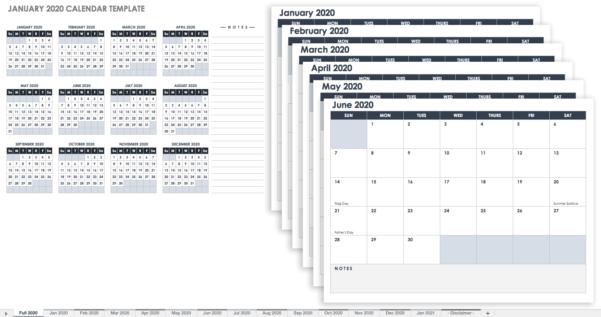 2018 Calendar Spreadsheet Google Sheets For 15 Free Monthly Calendar Templates  Smartsheet