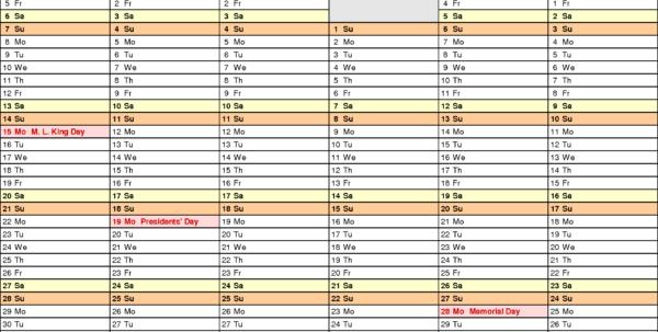 2018 Calendar Spreadsheet Google Sheets With Regard To 2018 Calendar  Download 17 Free Printable Excel Templates .xlsx