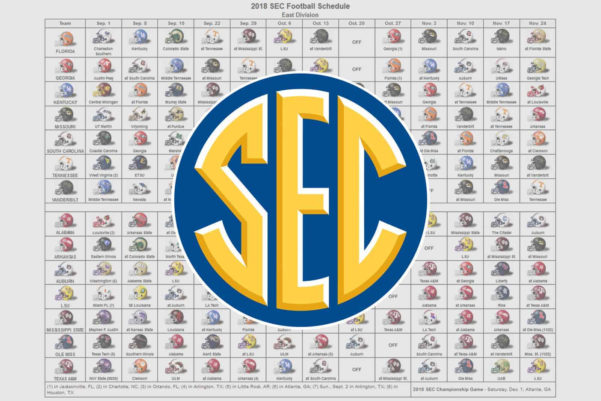 2018 College Football Schedule Excel Spreadsheet For 2018 Sec Football Helmet Schedule