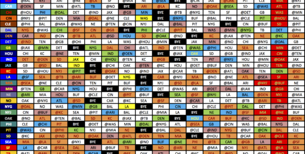 2018 College Football Schedule Excel Spreadsheet Regarding The 2016 Nfl Schedule 2018 College Football Schedule Excel Spreadsheet Printable Spreadsheet