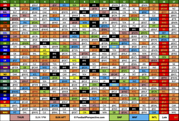 2018 College Football Schedule Excel Spreadsheet Regarding The 2016 Nfl Schedule