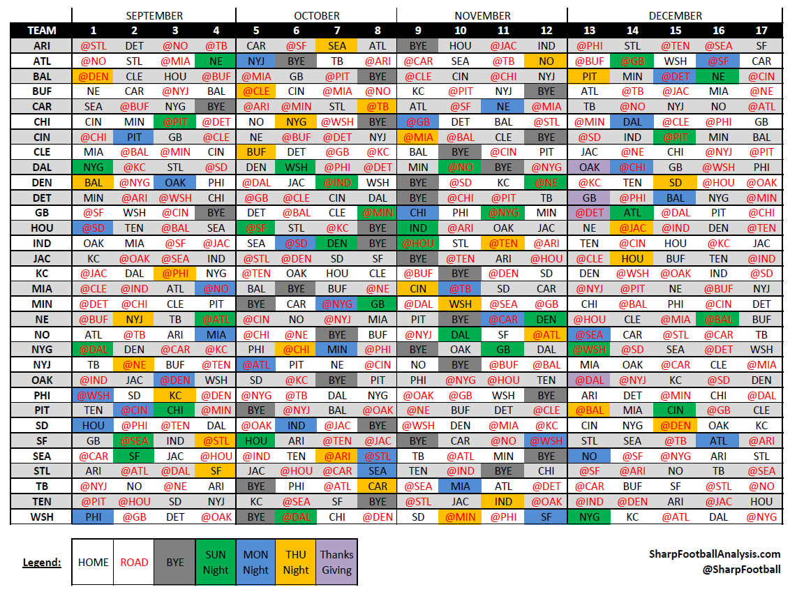2018 Excel Spreadsheet Of Nfl Schedule For 2017 College Football Helmet Schedule Spreadsheet : Ash Cycles