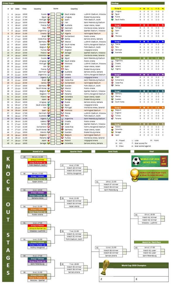 2018 Mlb Schedule Spreadsheet In World Cup 2018 Schedule Photos  Jen Hill Photo