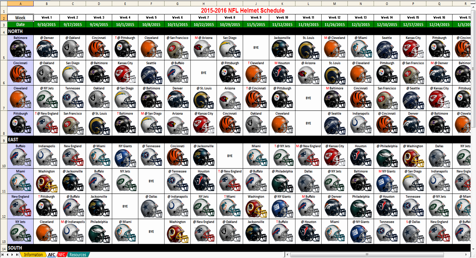 2018 Nfl Weekly Schedule Excel Spreadsheet Regarding Nfl Schedule Spreadsheet New Nfl Schedule 2018 Photos Jen Hill