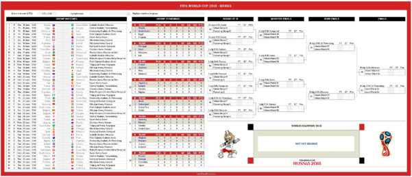 2018 Spreadsheet Within World Cup 2018 Free Excel Spreadsheet  World Cup Russia 2018  My