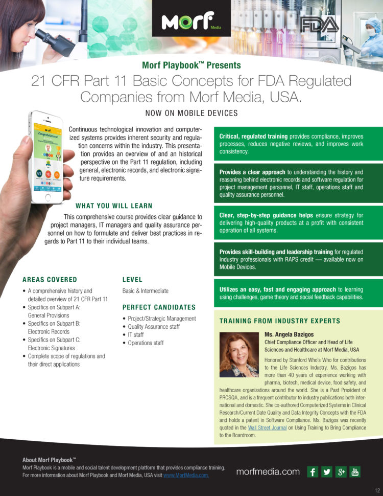 21 Cfr Part 11 Compliance For Excel Spreadsheets Pertaining To 21 Cfr Part 11 Basic Concepts Training Now On Morf Playbook™ For