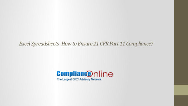 21 Cfr Part 11 Compliance For Excel Spreadsheets Pertaining To Excel Spreadsheets How To Ensure 21 Cfr Part 11 Compliance