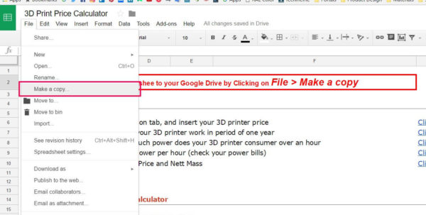 3D Printing Cost Calculator Spreadsheet Throughout How To Calculate 3D Printing Price  Kruno Knezic
