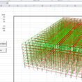 3D Spreadsheet In 3Dframe – 3D Frame Analysis For Excel  Newton Excel Bach, Not Just
