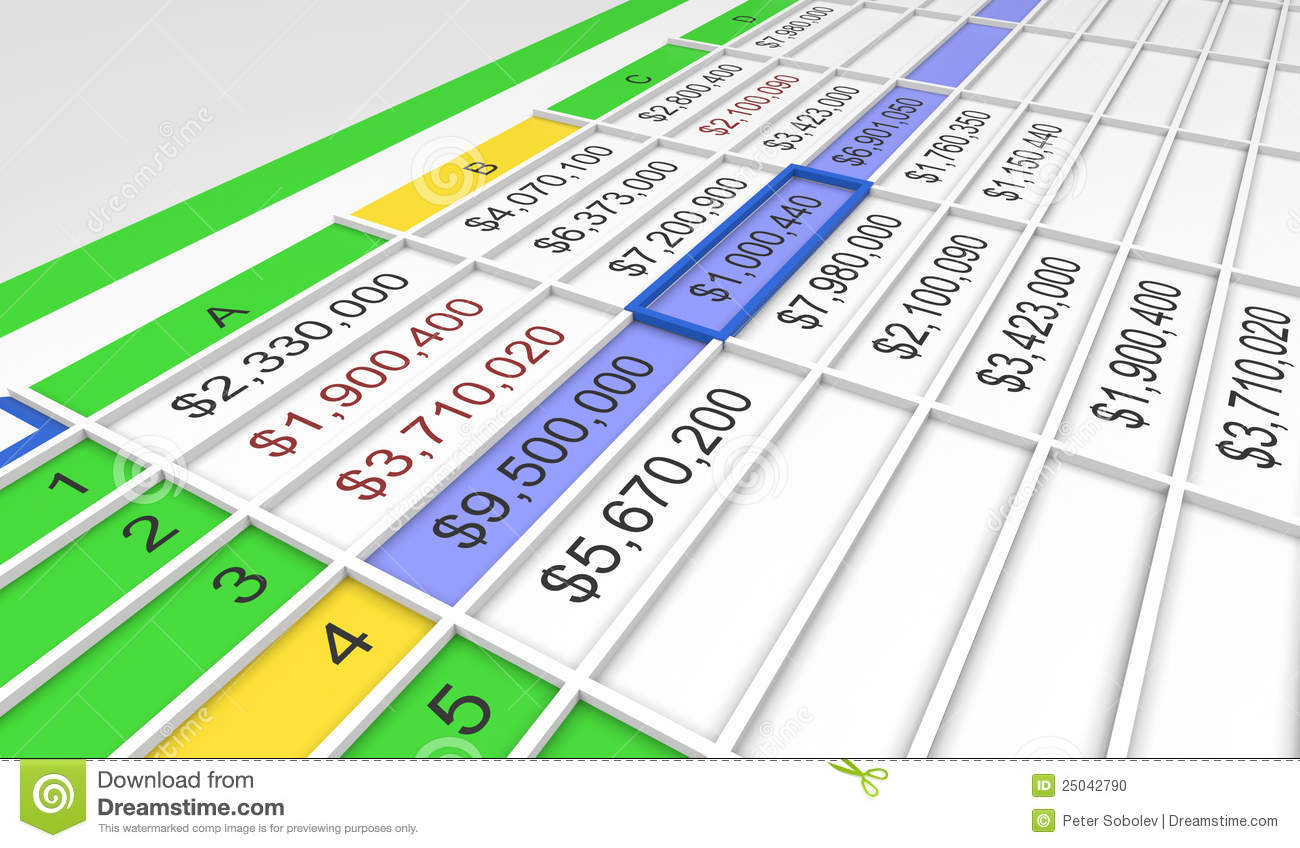 3D Spreadsheet Pertaining To 3D Spreadsheet Stock Illustration. Illustration Of Spreadsheet