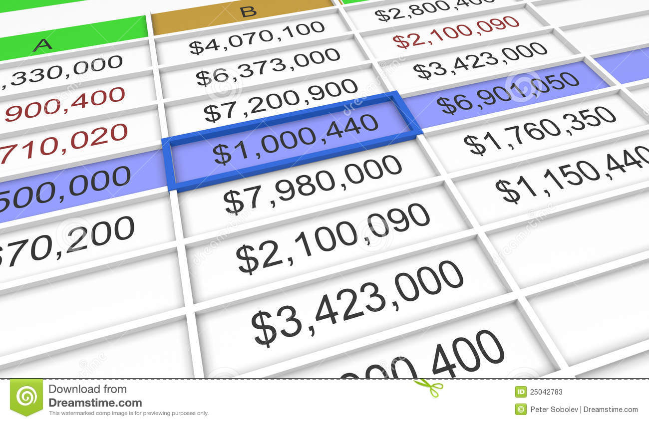 3D Spreadsheet Regarding 3D Spreadsheet Stock Illustration. Illustration Of Document  25042783