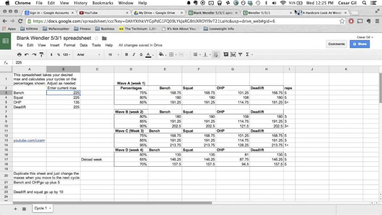3X3 Powerlifting Spreadsheet Throughout 3X3 Powerlifting Spreadsheet  Spreadsheet Collections