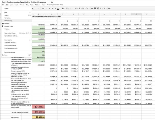 401K Spreadsheet Pertaining To Roth Ira Conversion Spreadsheet  Seeking Alpha