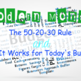 50 20 30 Rule Spreadsheet In Modern Money: The 502030 Rule And Why It Works For Today's Budgets