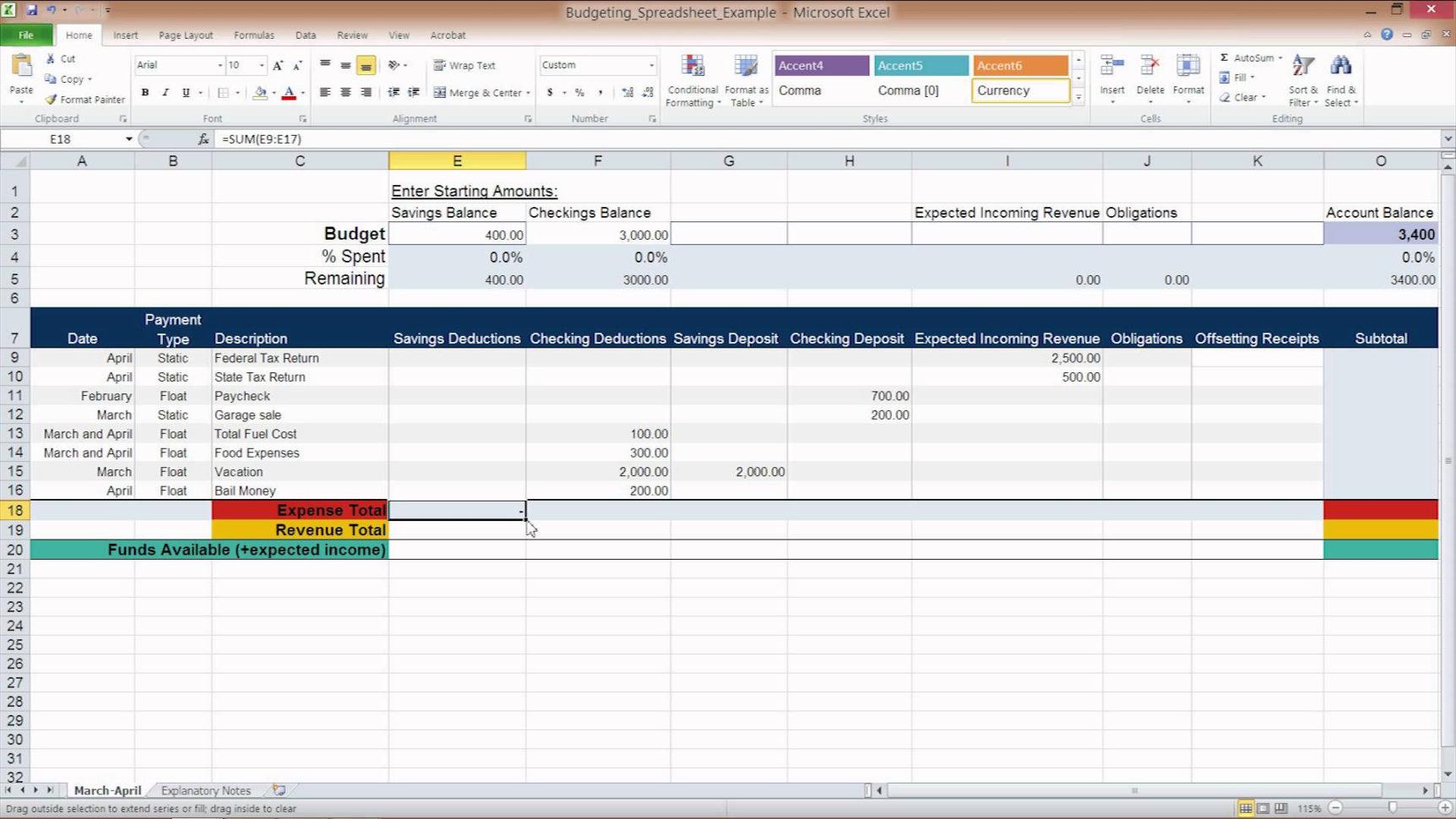 50 30 20 Budget Excel Spreadsheet Intended For 50 30 20 Budget Excel Spreadsheet  Homebiz4U2Profit