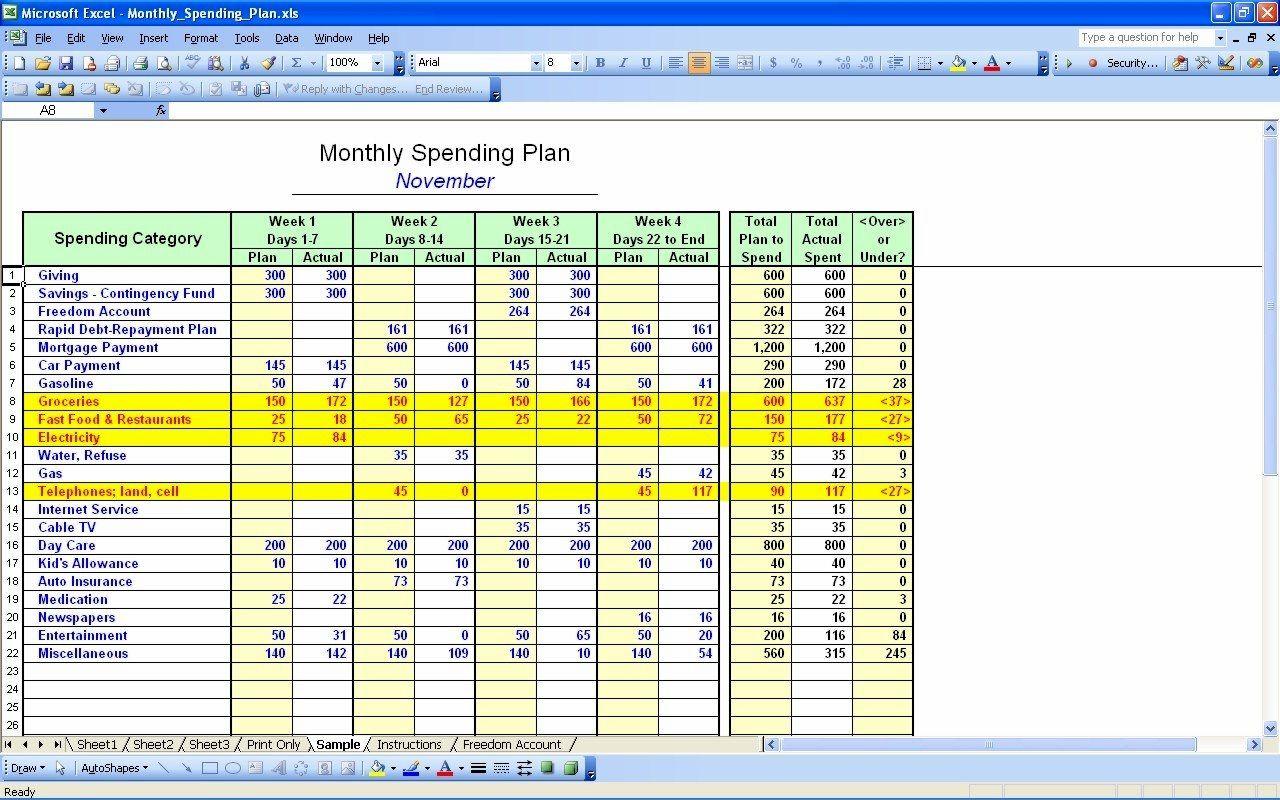 50 30 20 Budget Spreadsheet Template Inside 50 30 20 Budget Excel Template  Readleaf