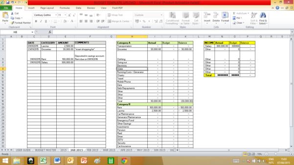 50 30 20 Rule Spreadsheet Within The 503020 Budget  Homebiz4U2Profit