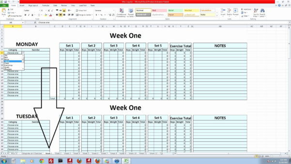 5X5 Workout Routine Spreadsheet In Stronglifts 5×5 Spreadsheet Lovely Powerlifting Program Spreadsheet