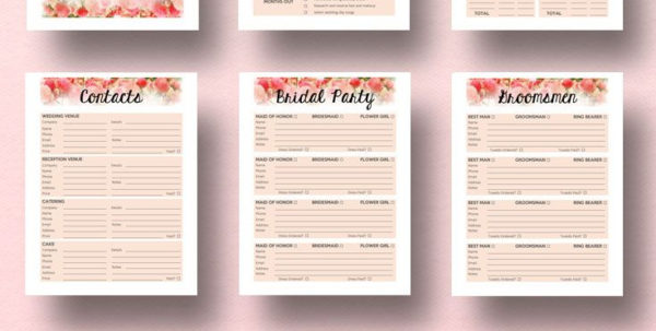 A Practical Wedding Spreadsheets With Impressive Free Wedding Planning Book Customizable And Free Wedding