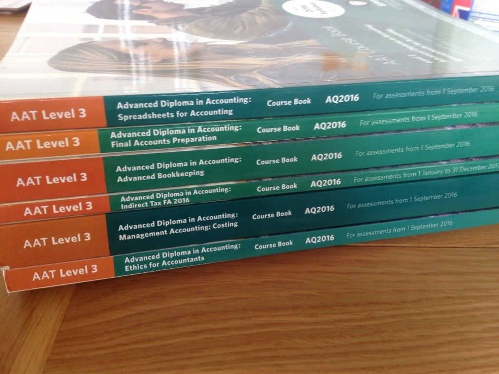 Aat Level 3 Spreadsheets For Aat Level 3 Books  In Bath, Somerset  Gumtree