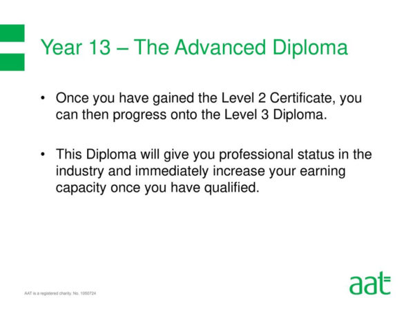 Aat Level 3 Spreadsheets Regarding Aat Level 3 Diploma In Accounting  Ppt Download