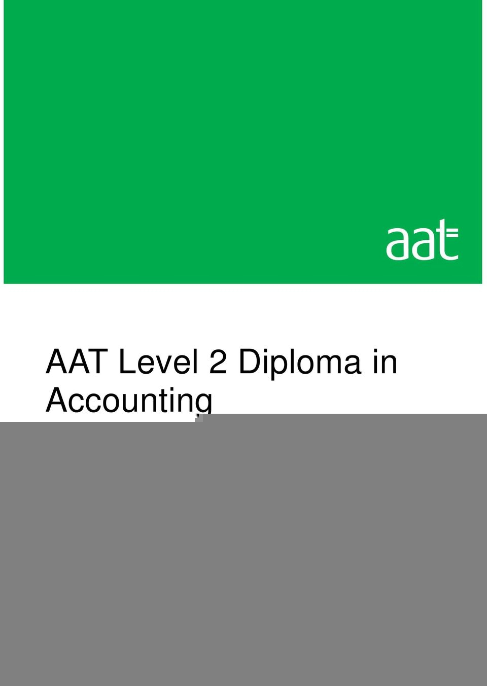 Aat Level 3 Spreadsheets Revision Inside Aat Level 2 Diploma In Accounting And Business  Pdf