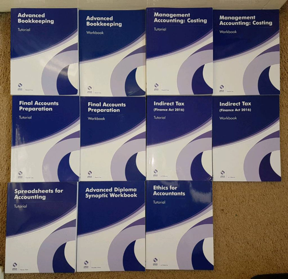 Aat Level 3 Spreadsheets Revision With Regard To Aat Level 3 Advanced Diploma In Accounting 2016 Books  In Milton