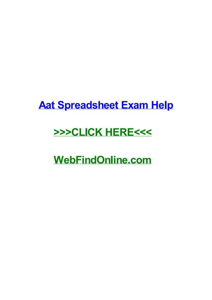 Aat Spreadsheet Exam Intended For Aat Spreadsheet Exam Helpamyqgna  Issuu