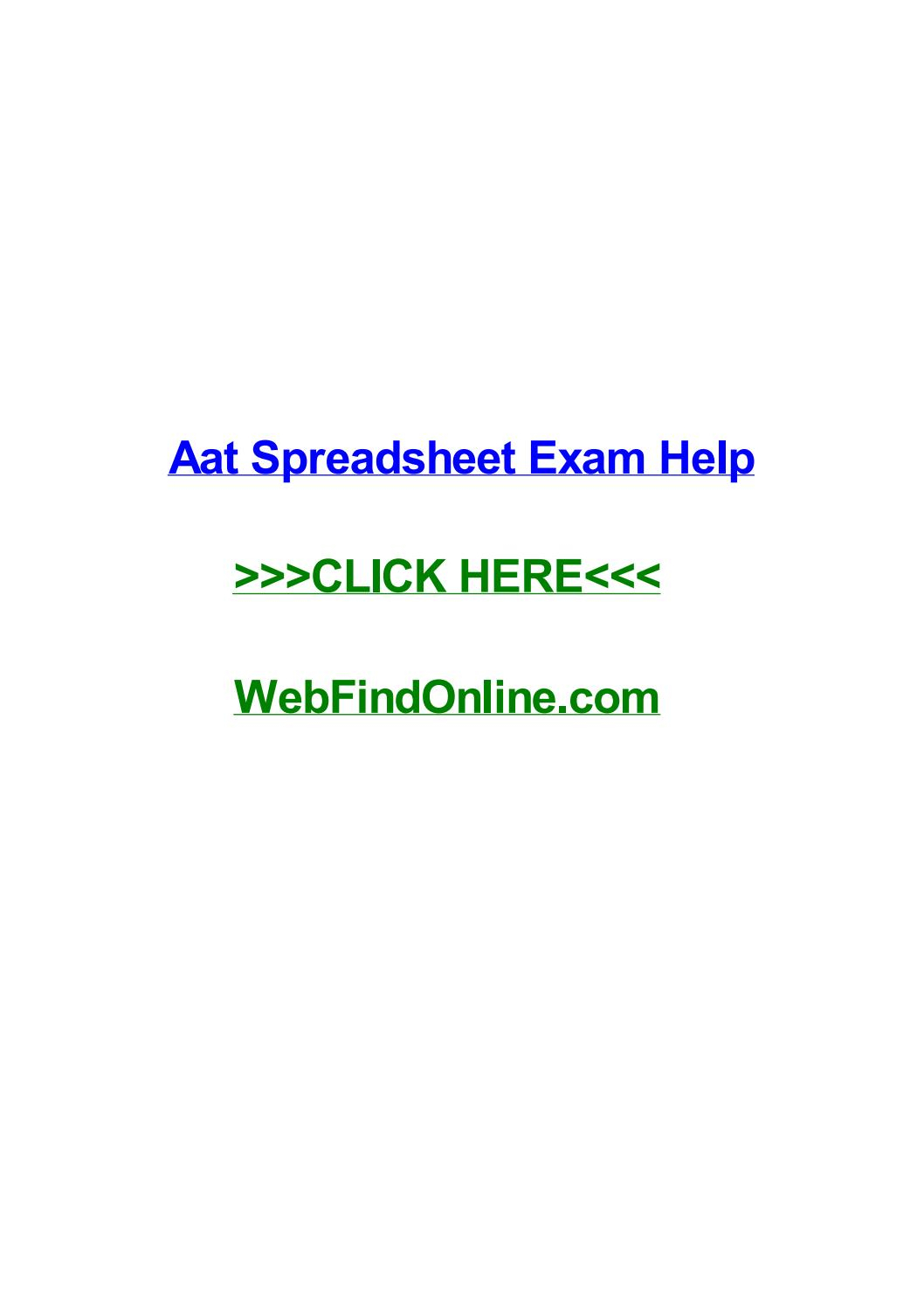 Aat Spreadsheet Exam Intended For Aat Spreadsheet Exam Helpamyqgna  Issuu